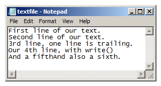 Notepad Python Example 2